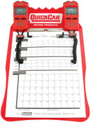 Clipboard Timing System - Dual Robic Stop Watches - Lap/Qualifying Charts - Acrylic Board - Red - Kit