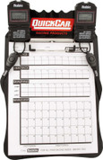Clipboard Timing System - Dual Robic Stop Watches - Lap/Qualifying Charts - Acrylic Board - Black - Kit