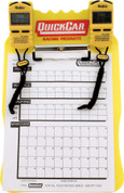 Clipboard Timing System - Dual Robic Stop Watches - Lap/Qualifying Charts - Acrylic Board - Yellow - Kit