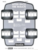 Tire Setup Chart - After Race - 50 Sheets in a Pad - Each