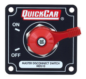 Battery Disconnect - Rotary Switch - Panel Mount - 125 Amp Continuous - 12V - Alternator Posts - Aluminum On/Off Panel - Black - Each