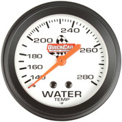 Gauge - Water Temperature - 100-280 Degree F - Mechanical - Analog - 2-5/8 in Diameter - White Face - Each