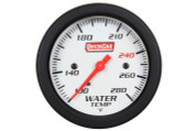 Gauge - Water Temperature - Extreme - 100-280 Degree F - Mechanical - Analog - 2-5/8 in Diameter - White Face - Built In Warning Light - Each