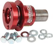Steering Wheel Quick Release - 360 Degree Release - Fine Spline - Aluminum - Red Anodized - 3/4 in Shaft - Kit