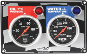 61-0101  -  Gauge Panel Assembly - Auto Meter Sport-Comp - Oil Pressure/Water Temp - Black Face - Warning Light - Kit