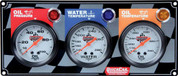 61-6011 - Gauge Panel Assembly - Oil Pressure/Oil Temp/Water Temp - White Face - Warning Light - Kit