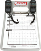 51-070 - Clipboard Timing System - Dual Robic Stop Watches - Lap/Qualifying Charts - Aluminum Board - Natural - Kit