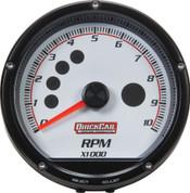 "63-001 - Gauge - Tachometer - Redline - 0-10,000 RPM - 3"" Diameter - Multi Recall - White Face"
