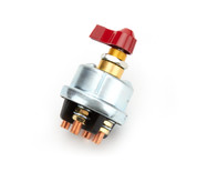 """55-005 - Battery Disconnect - Rotary Switch - Panel Mount - 125 Amp Continuous - 12V - 3/8"""" Alternator Posts - Each"""