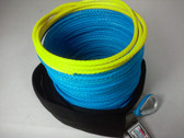 "3/16"" x 50 Feet - Warning Winch Rope - Blue"