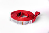 "2"" x 30 ft ASR Poly Flat Strap in Red."
