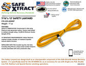 "SX-40000F Safety Lanyard (7/16"" x 12') (21,000 lb MTS)"