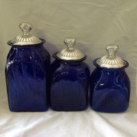 Blue Canister Set
