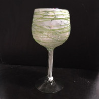 Green on White Goblet