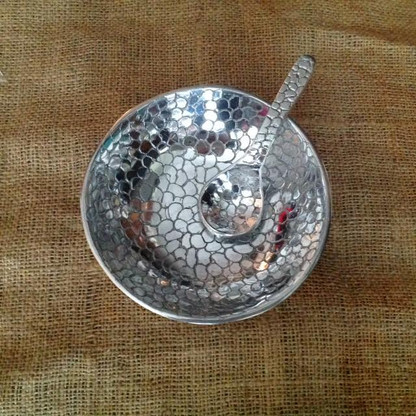 Alligator Print Small Bowl and Spoon