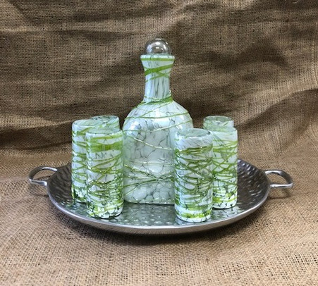 Pintas Blancas with Lime Green Tequila Set