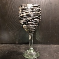 Marmol with Chocolate Drizzle Wine Glass