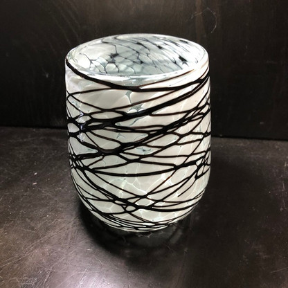 Pintas Blancas with Chocolate Barrel Shaped Glass