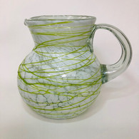 White with Lime Green Pitcher