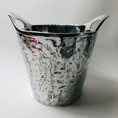 Hammered Wine Bucket with Handles