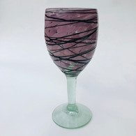 Raspberry with Chocolate Drizzle Wine Goblet