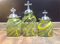 Canister Set-- Lime Green/Yellow