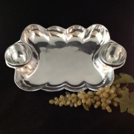 Wavy Edge Chip and Dip with 2 Bowls