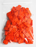 1814-OR-100, Cap, Orange, HP & Canon Large Ink Ports, Pack of 100
