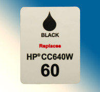 4702, Label HP 60 CC640W Black - Sheet of 77 Labels