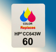 4703, Label HP 60 CC643W Color - Sheet of 77 Labels