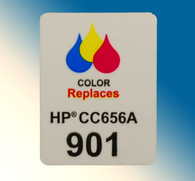 4720, Label HP CC656 #901 Color - Sheet of 77 Labels