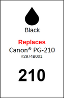 4723, Label, Canon PG-210 Black - Sheet of 63 Labels