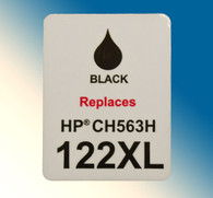 4738, Label HP CH563H #122XL Black