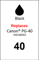 4854, Label, Canon PG-40 Black - Sheet of 63 Labels