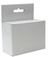 "4942, White Retail Hang Tab Box, HP 60,61 size fit in this box, - 3-1/2"" x 1-5/8"" x 2-1/2"" - Case qty 675"