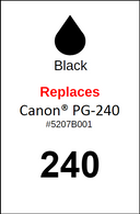 4930, Label, Canon PG-240 - Sheet of 63 Labels