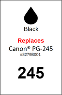 4934, Label, Canon PG-245 - Sheet of 35 Labels