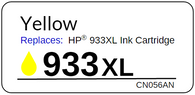 Replacement Label for the HP 933XL Yellow Ink Cartridge