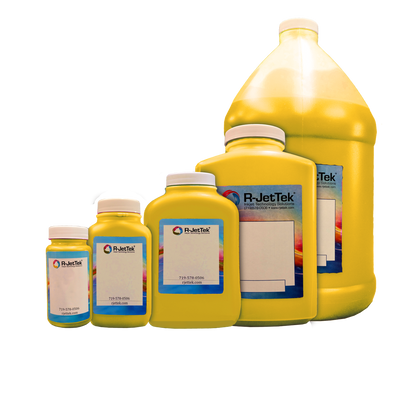 Yellow Ink - Actual Containers may have different shapes.