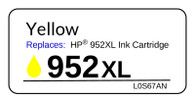 4981, Label, HP 952XL Yellow - Sheet of 24 Labels