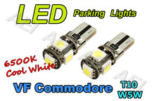 Holden VF Commodore Parking Lights White LED Light Bulbs (CANBUS T10 W5W)