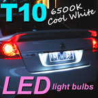 Pair of T10 W5W LED Light Bulbs VE Commodore Number Plate Lights