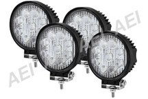 4 X 27w LED Work Lights (Round, 9-32V Multi Voltage)