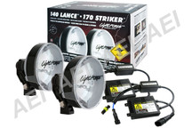 Lightforce 170 Striker 55W 6000K HID Spot Lights (2 x Pencil Beam)