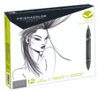 Prismacolor Art Marker Brush Fine Neutral Grey 12 ct set Pen Mountain