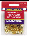100 Brass Thumb Tacks