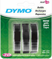 Dymo Embossing Tape Black refill 3.pk  Pen Mountain
