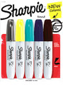Sharpie Chisel Navy (see 2nd from right)  Pen Mountain