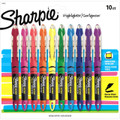 Sharpie Accent Highlighter Liquid 10 Color Set - Berry, Coral, Flourescent Green, Flourescent Orange, Flourescent Pink, Flourescent Yellow, Indigo, Purple, Red, Turquoise Blue - Pen Mountain