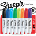 Sharpie Chisel Markers 8 Color Set: Black, Blue, Green, Lime, Orange, Purple, Red, Turquoise - Pen Mountain